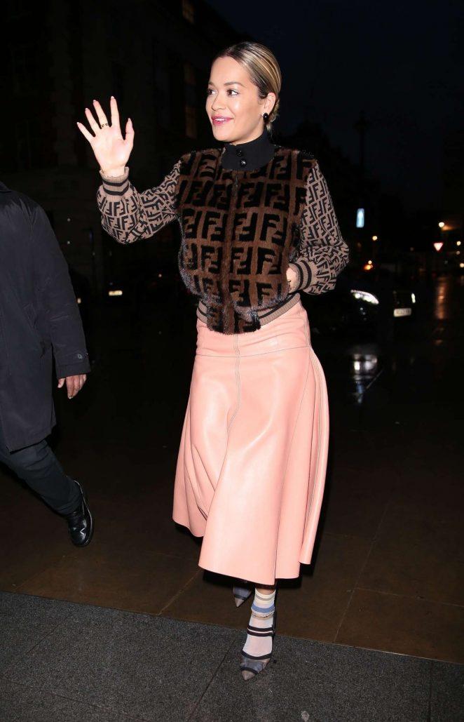 Rita Ora at Radio Appearance in London