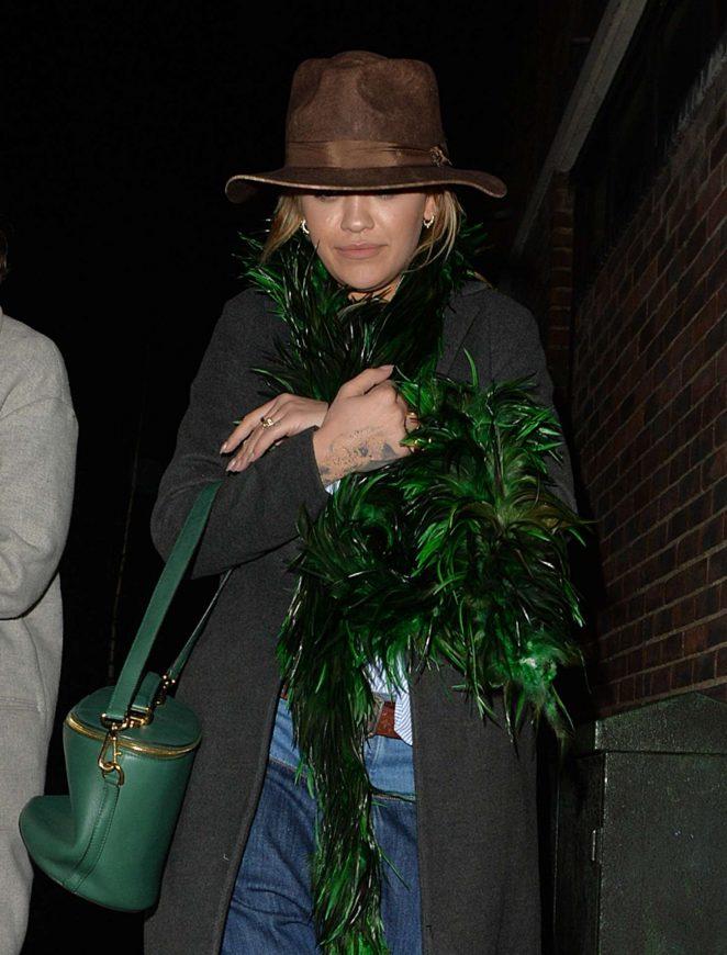 Rita Ora at restaurant in Notting Hill