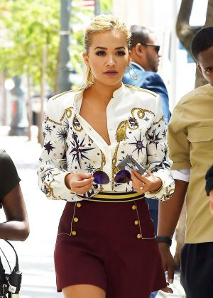 Rita Ora at the 'America's Next Top Model' Studios in New York
