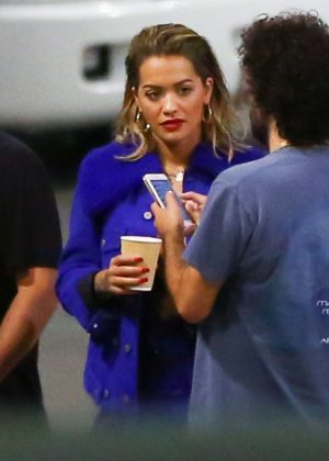 Rita Ora at the Ed Sheeran concert in Los Angeles