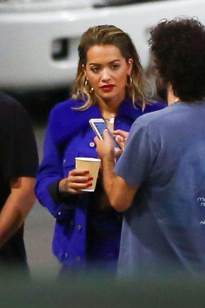 Rita Ora at the Ed Sheeran concert in Los Angeles