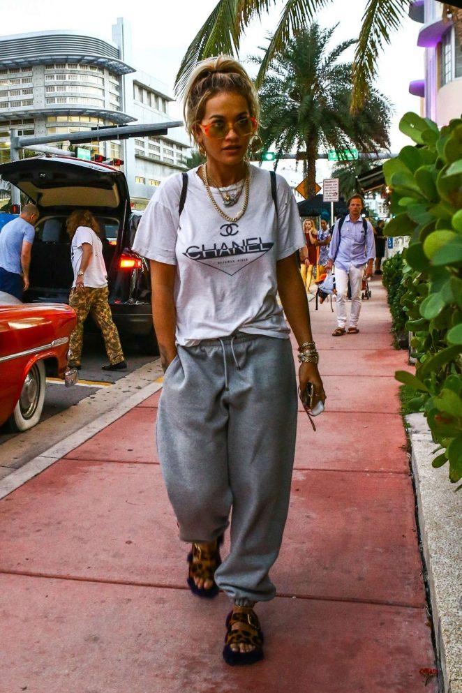 Rita Ora at The Hit Factory in Miami Beach
