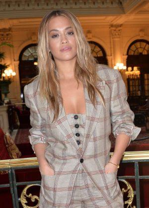 Rita Ora at Vivienne Westwood Fashion Show in Paris