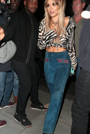 Rita Ora - Attend her friends 30th birthday party in London