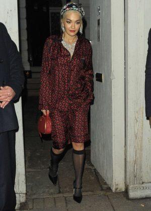 Rita Ora - Attending Miuccia Prada Party in London