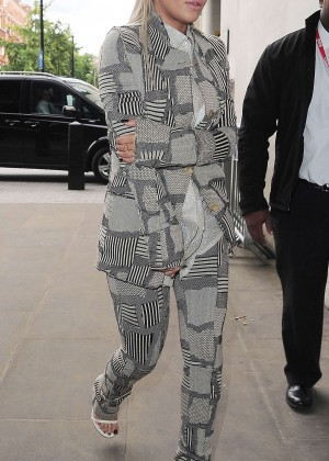 Rita Ora - BBC Radio 1 Studios in London