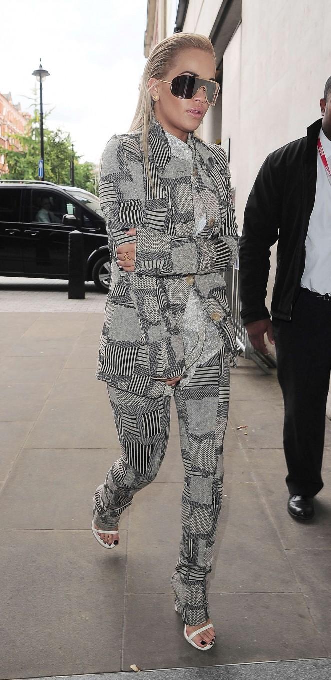Rita Ora - BBC Radio 1 Studios in London