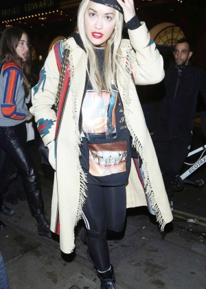 Rita Ora - Celebrating her 25th Birthday in London