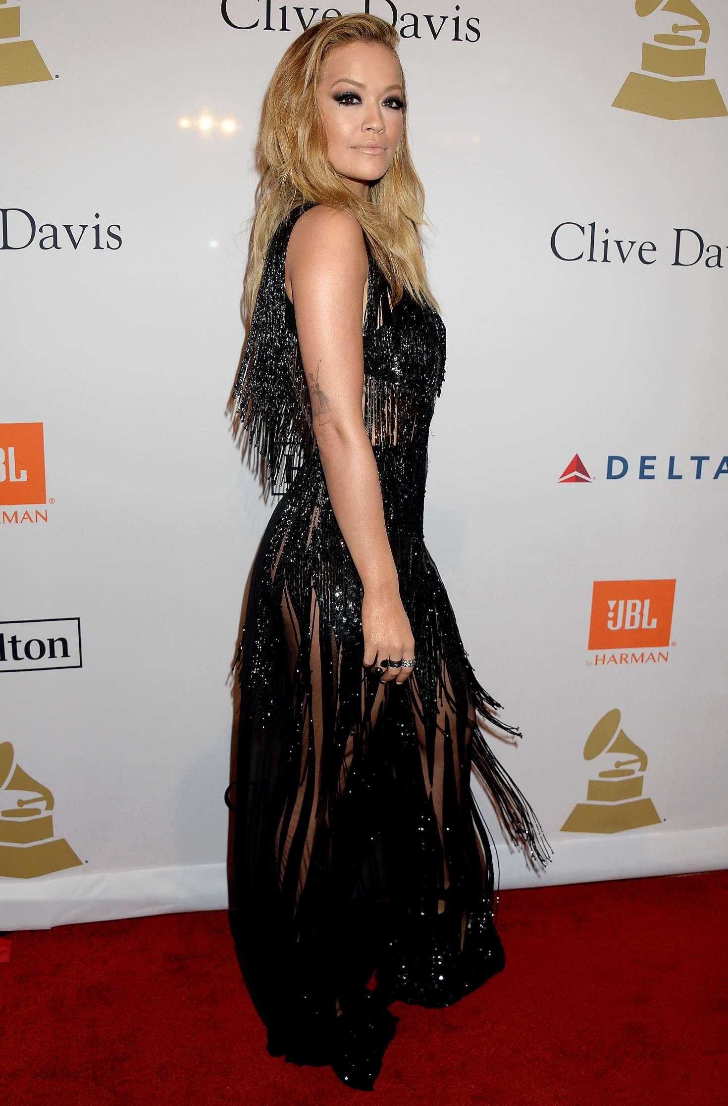 Rita Ora 2017 : Rita Ora: Clive Davis Pre-Grammy Party 2017 -02