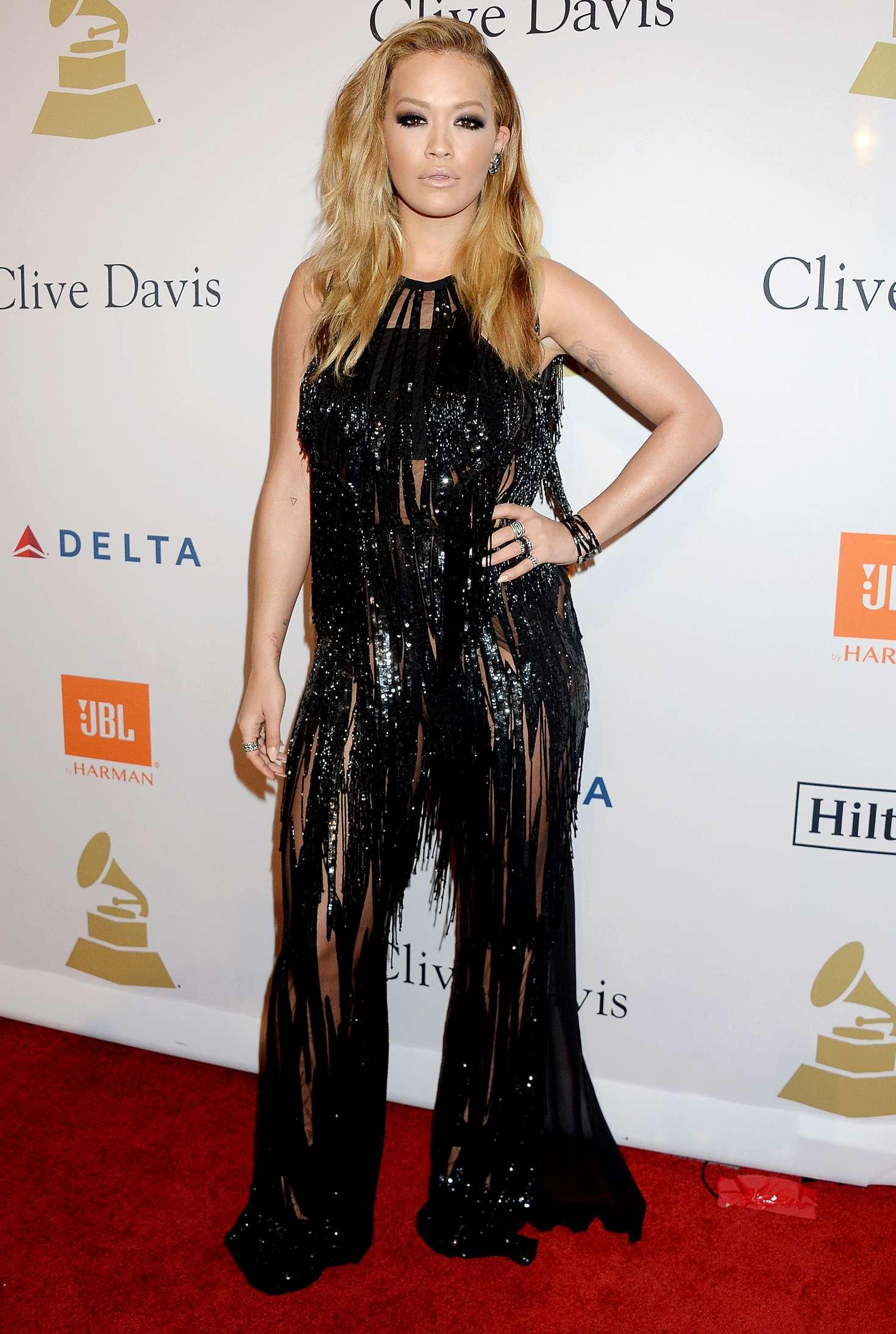 Rita Ora 2017 : Rita Ora: Clive Davis Pre-Grammy Party 2017 -04