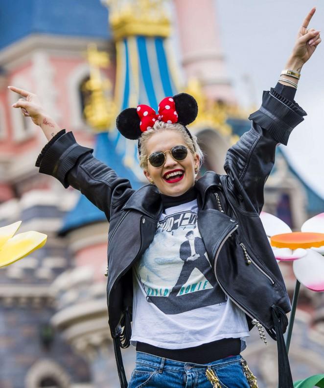 Rita Ora - Disneyland in Paris