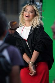 Rita Ora - Filming a Rimmel London Advert in London