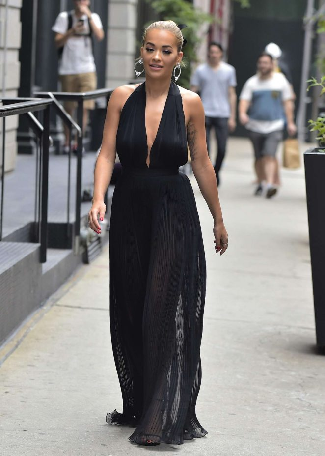 Rita Ora - Filming America's Next Top Model in NYC
