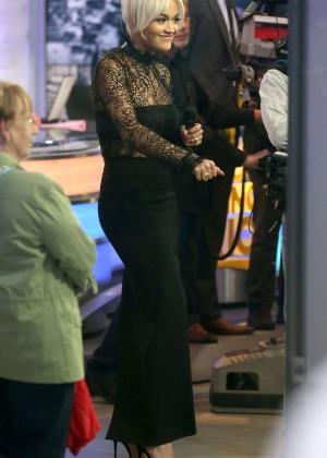 Rita Ora in Tight Dress at 'Good Morning America' in NYC