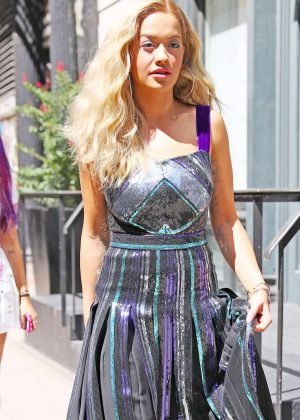 Rita Ora heading to work in New York City