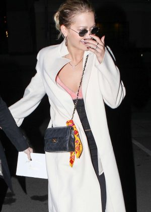 Rita Ora heads to a birthday dinner at Matsuhisa in Beverly Hills