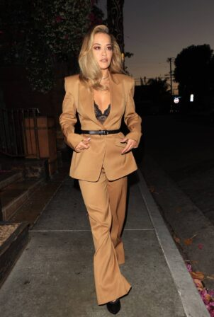 Rita Ora - Heads to a meeting at Craig's in West Hollywood