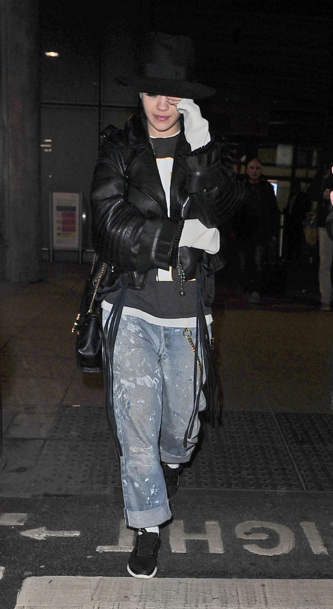Rita Ora: Heathrow airport -03