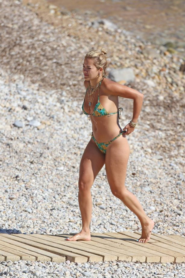 Rita Ora - In bikini on the beach in Ibiza