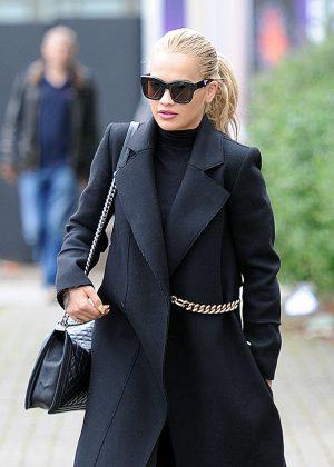 Rita Ora in Black at Harrow Crown Court in London