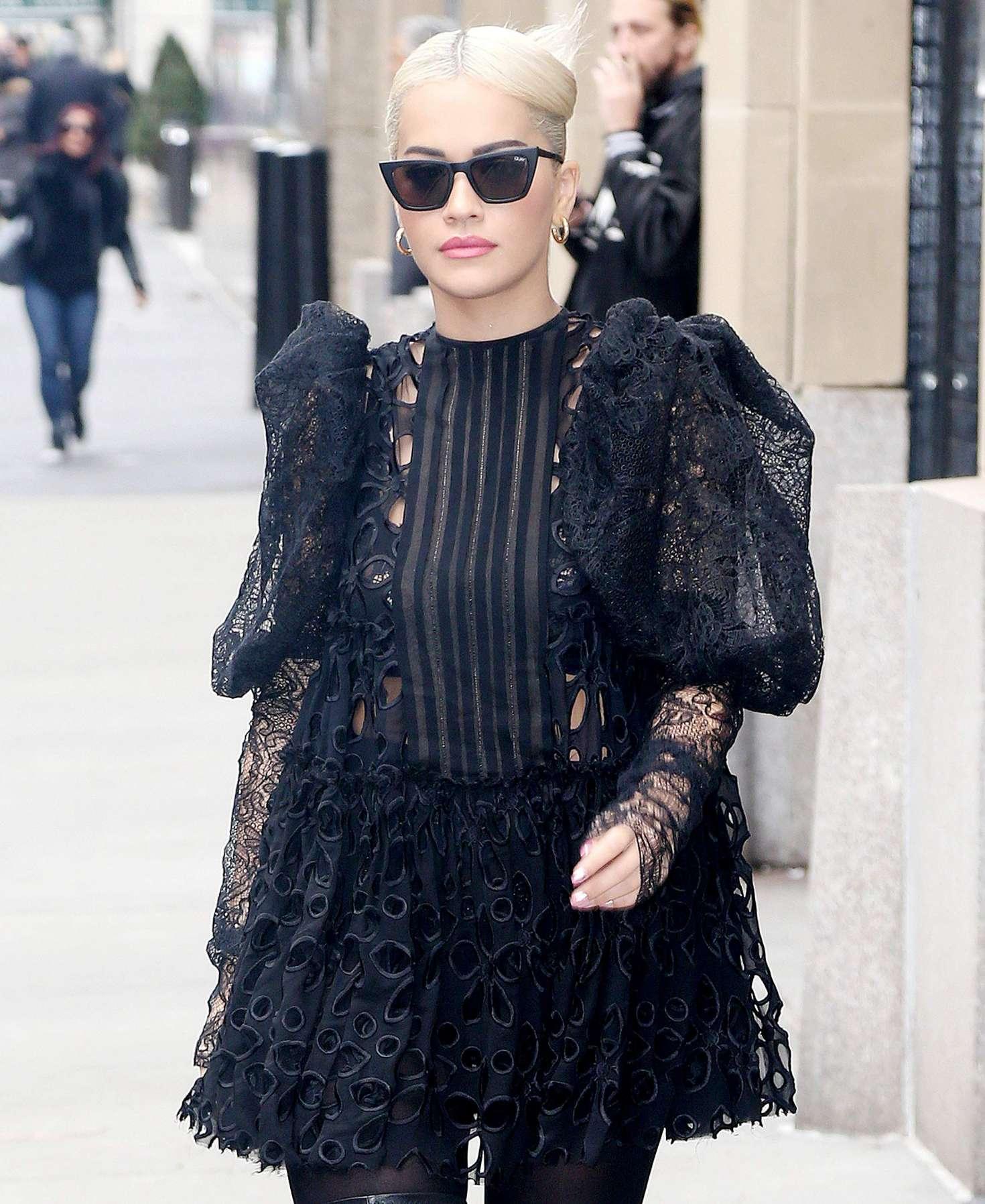 Rita Ora 2016 : Rita Ora in Black Mini Dress -07