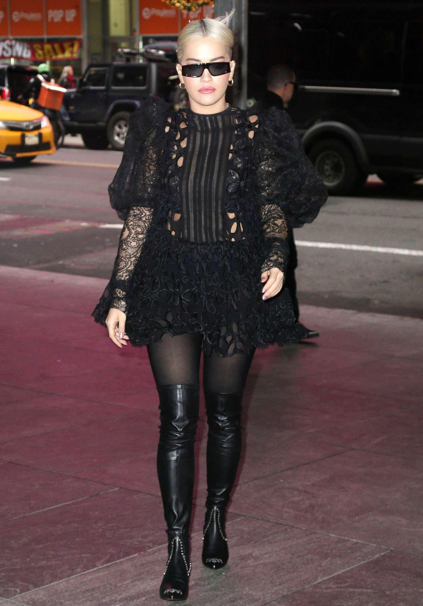 Rita Ora 2016 : Rita Ora in Black Mini Dress -08