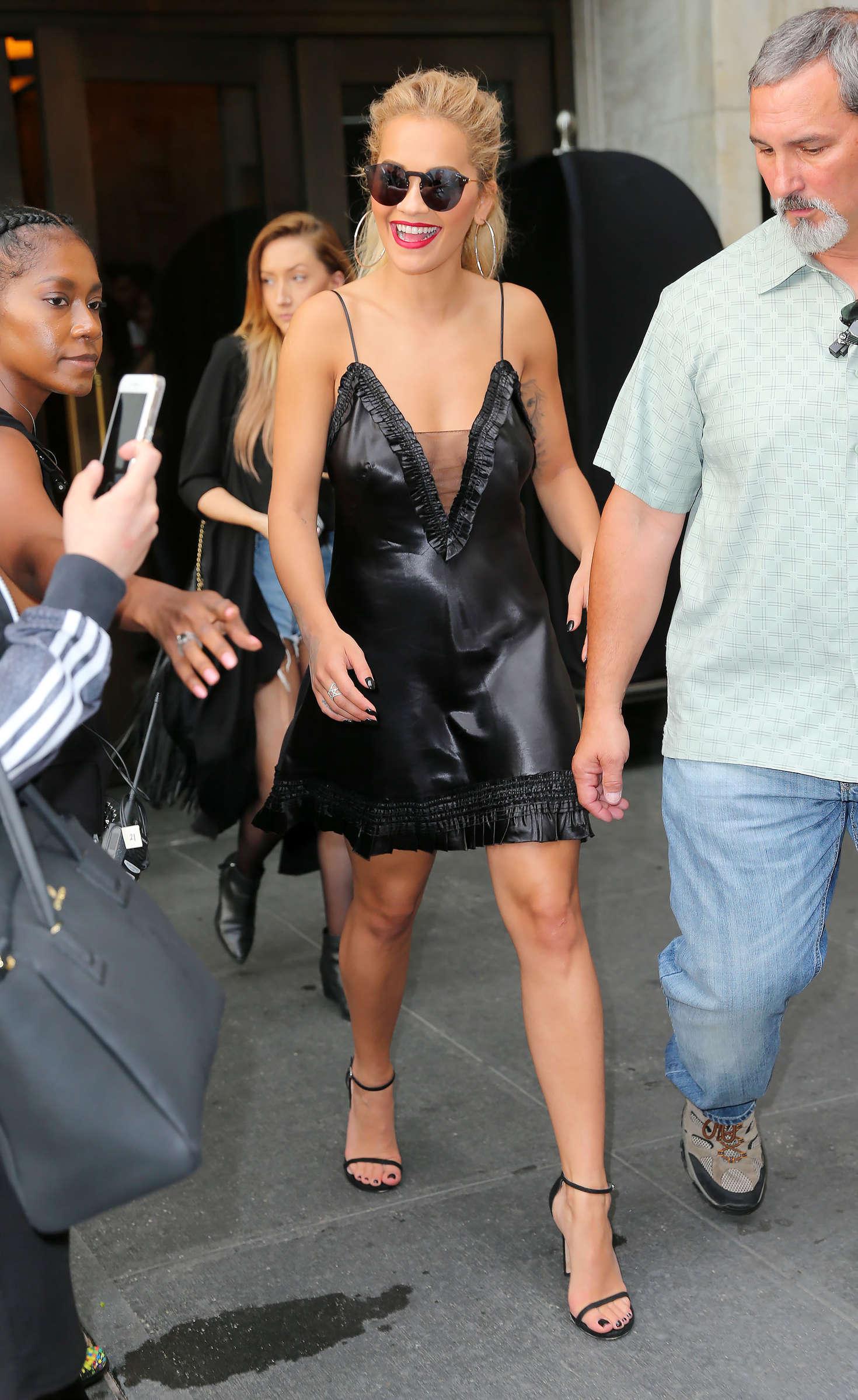 Rita Ora 2016 : Rita Ora in Black Mini Dress -10