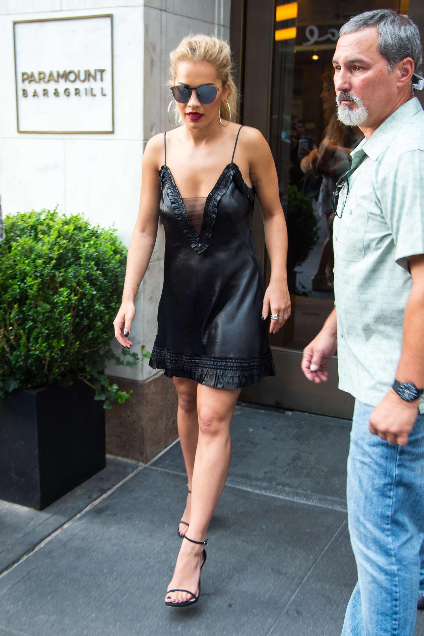 Rita Ora 2016 : Rita Ora in Black Mini Dress -13