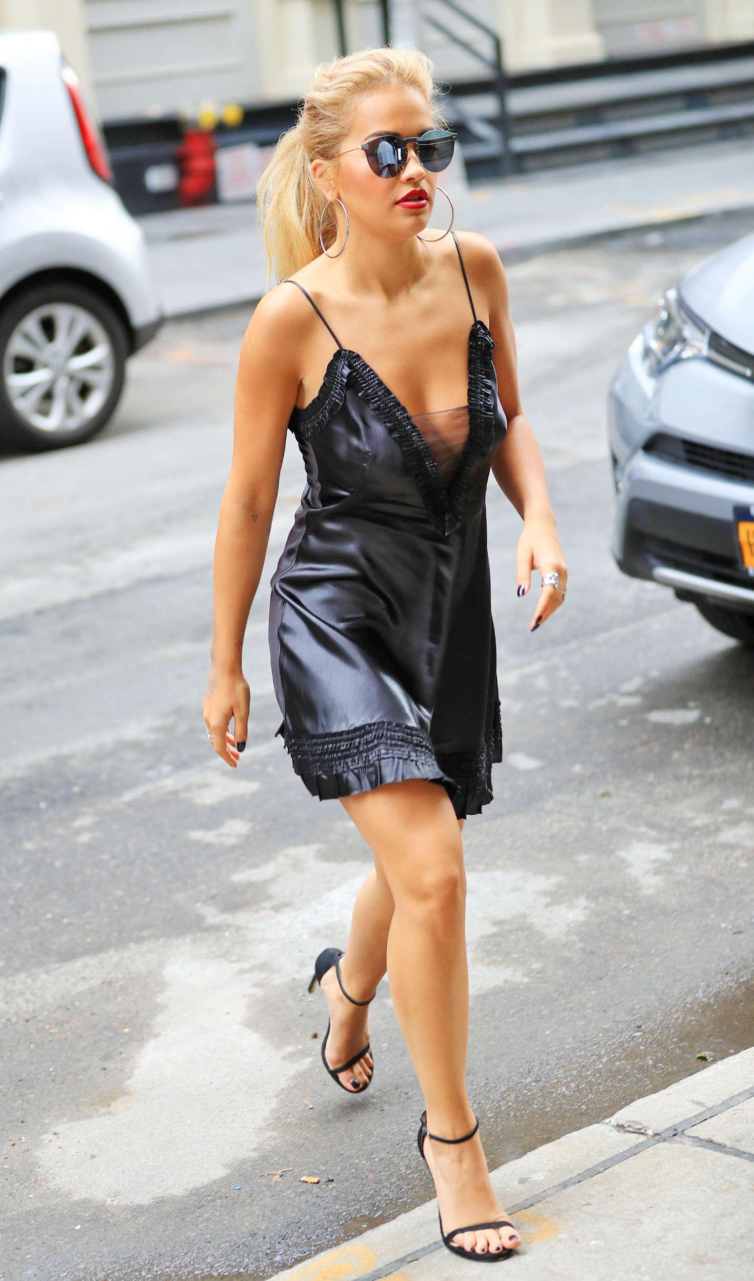 Rita Ora 2016 : Rita Ora in Black Mini Dress -16