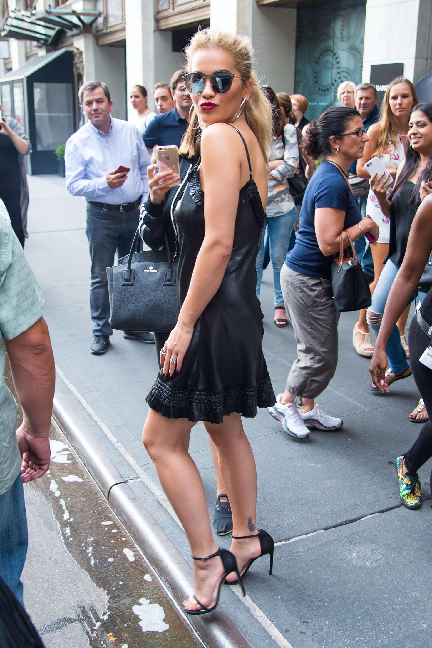 Rita Ora 2016 : Rita Ora in Black Mini Dress -17