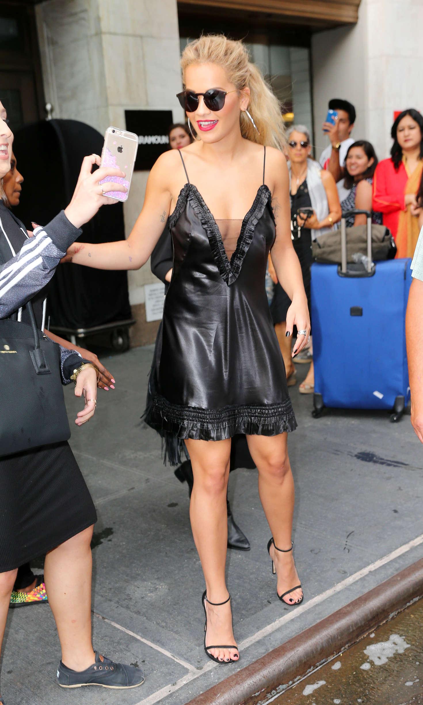 Rita Ora 2016 : Rita Ora in Black Mini Dress -20