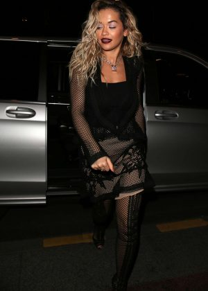 Rita Ora in Black - Out and about in Paris