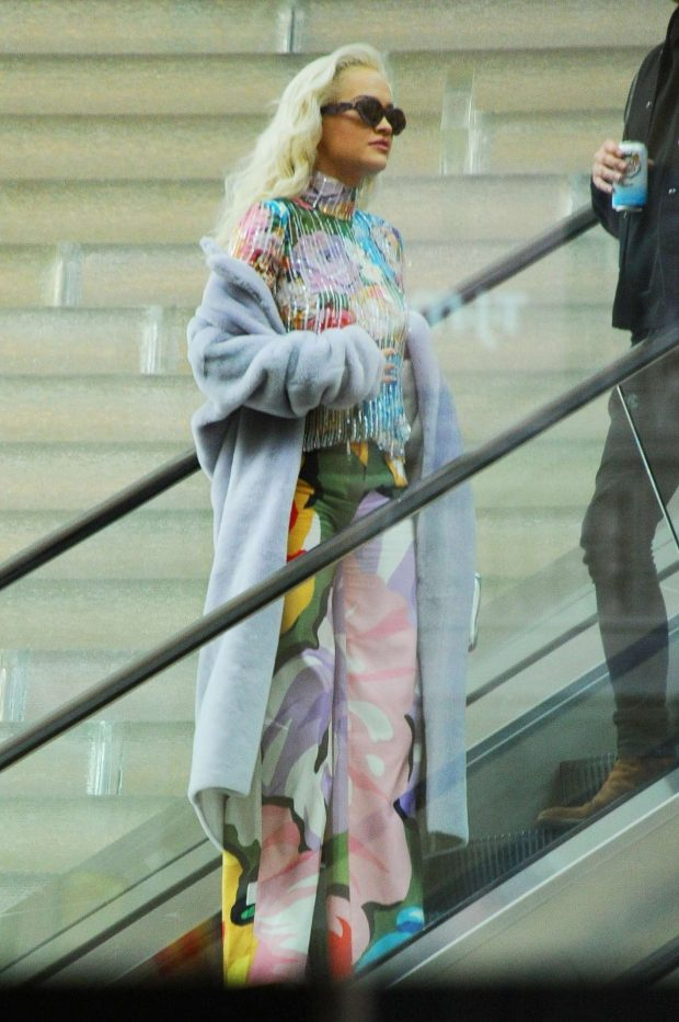Rita Ora in Colorful Outfit -08