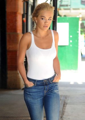 Rita Ora in Jeans Out in New York