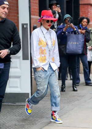 Rita Ora in Jeans Out in NYC