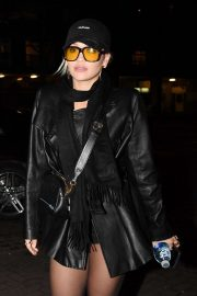 Rita Ora in Leather Jacket - Out in london