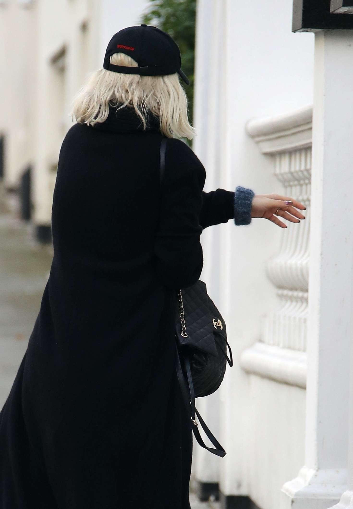 Rita Ora 2018 : Rita Ora in Long Black Coat -03