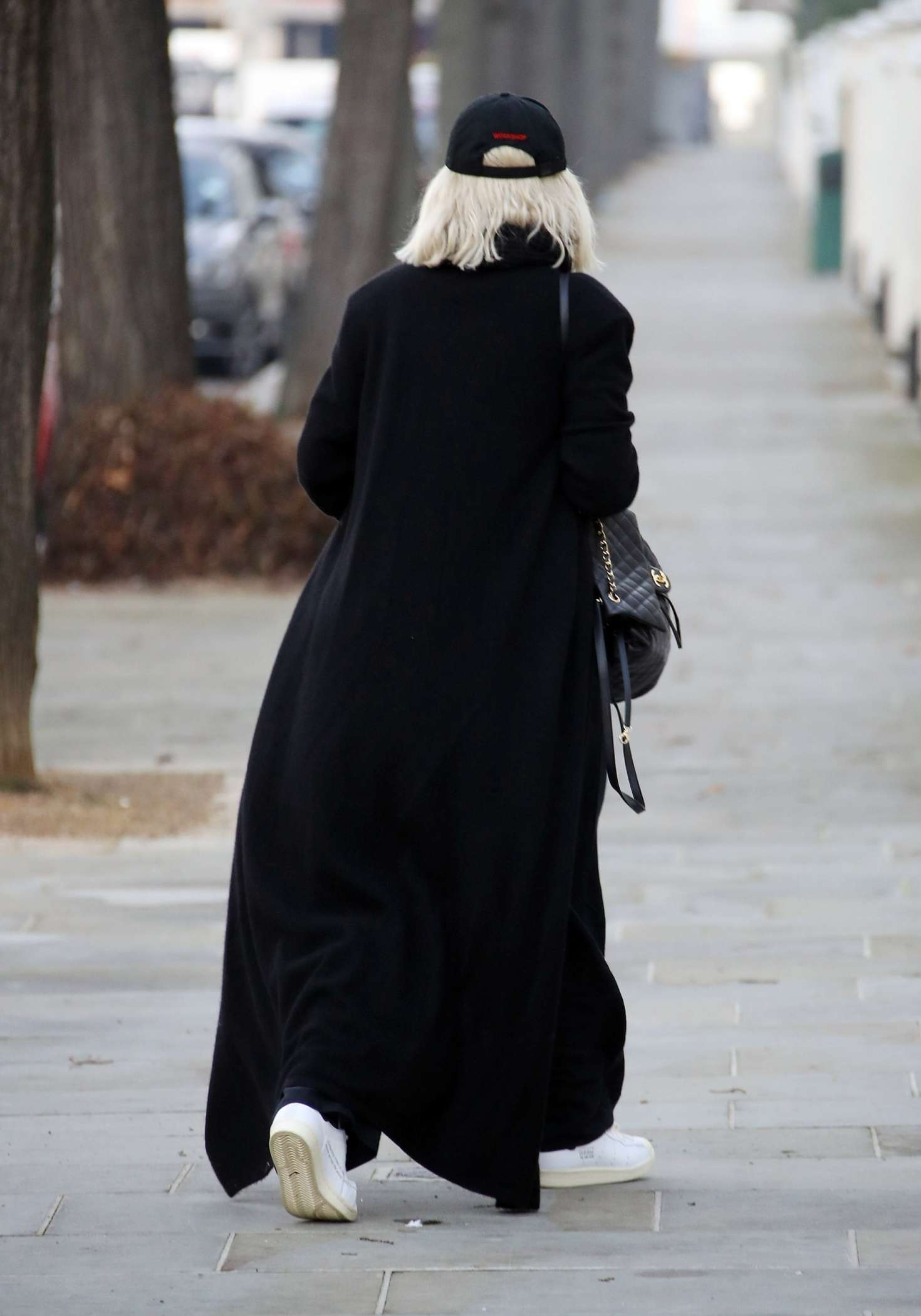 Rita Ora 2018 : Rita Ora in Long Black Coat -05