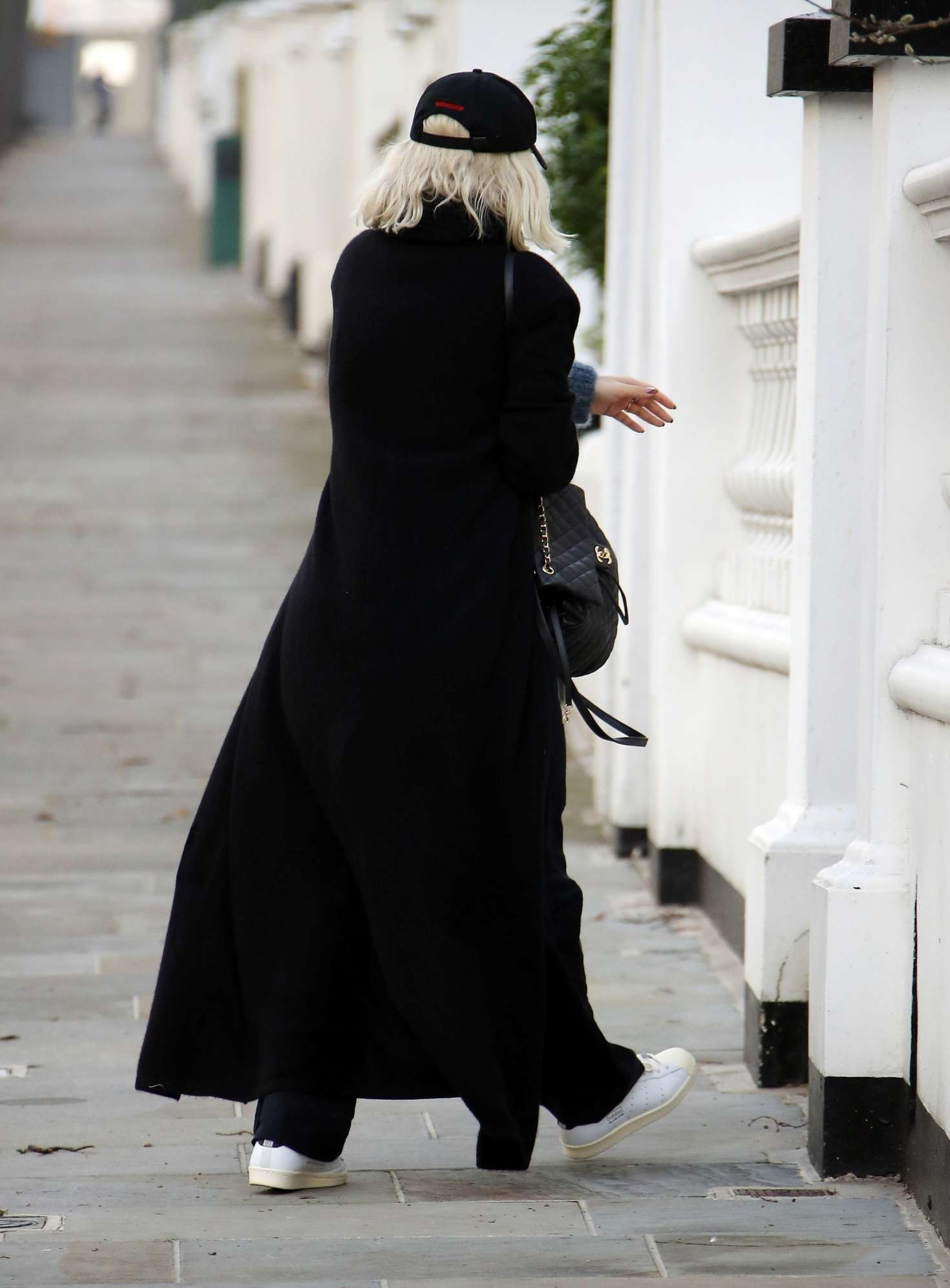 Rita Ora 2018 : Rita Ora in Long Black Coat -08