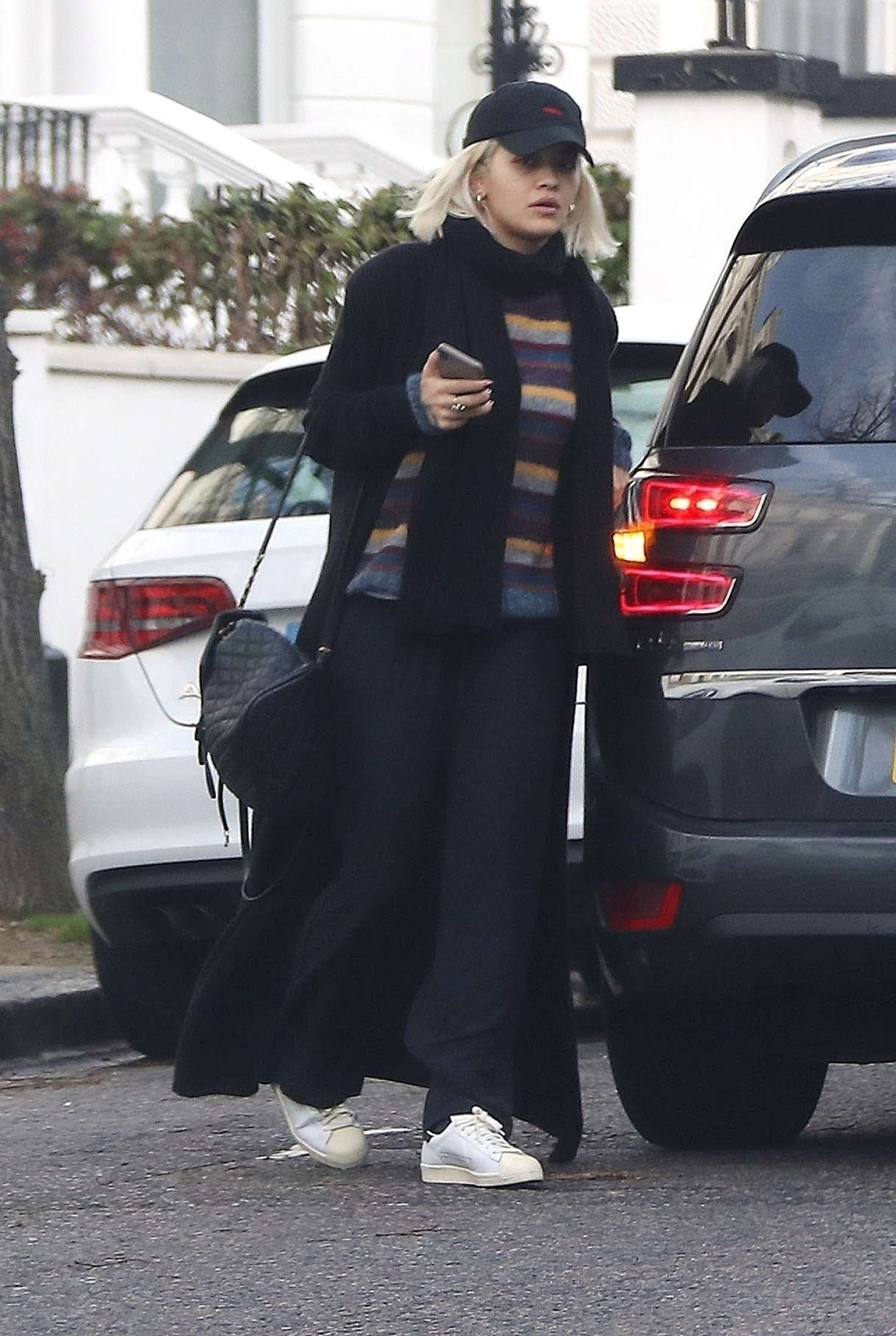 Rita Ora 2018 : Rita Ora in Long Black Coat -10