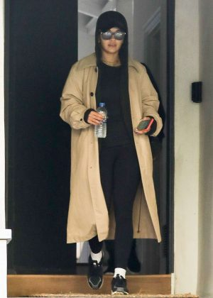 Rita Ora in Long Coat - Out in Beverly Hills