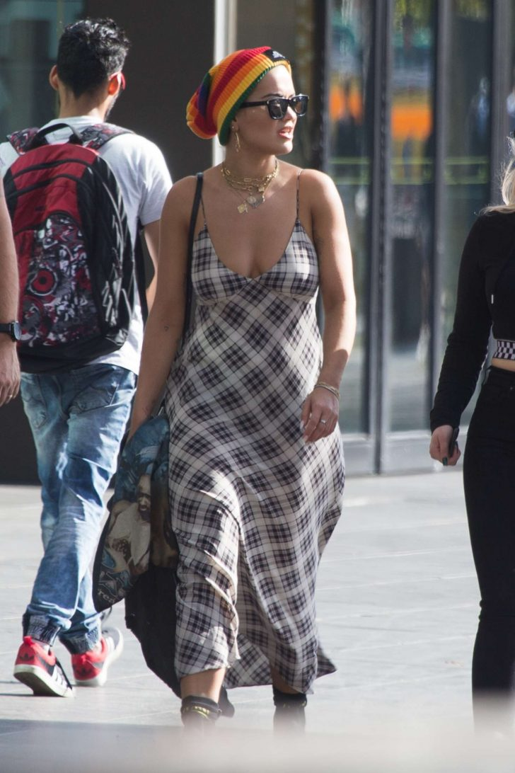 Rita Ora in Long Dress -09