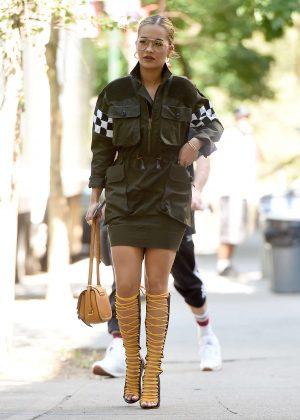 Rita Ora in Mini Dress out in NYC