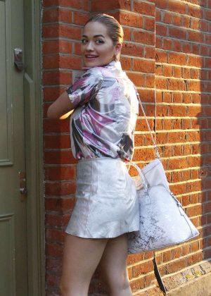 Rita Ora in Short Skirt Out in New York