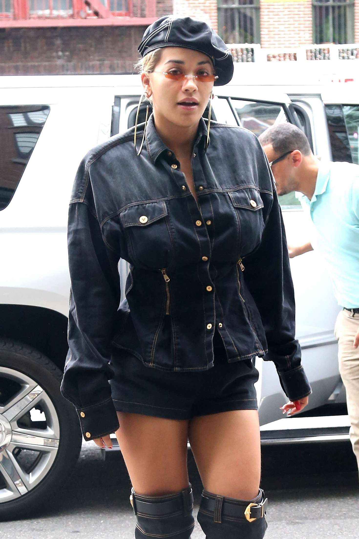Rita Ora in Shorts – Leaving her hotel in New York City