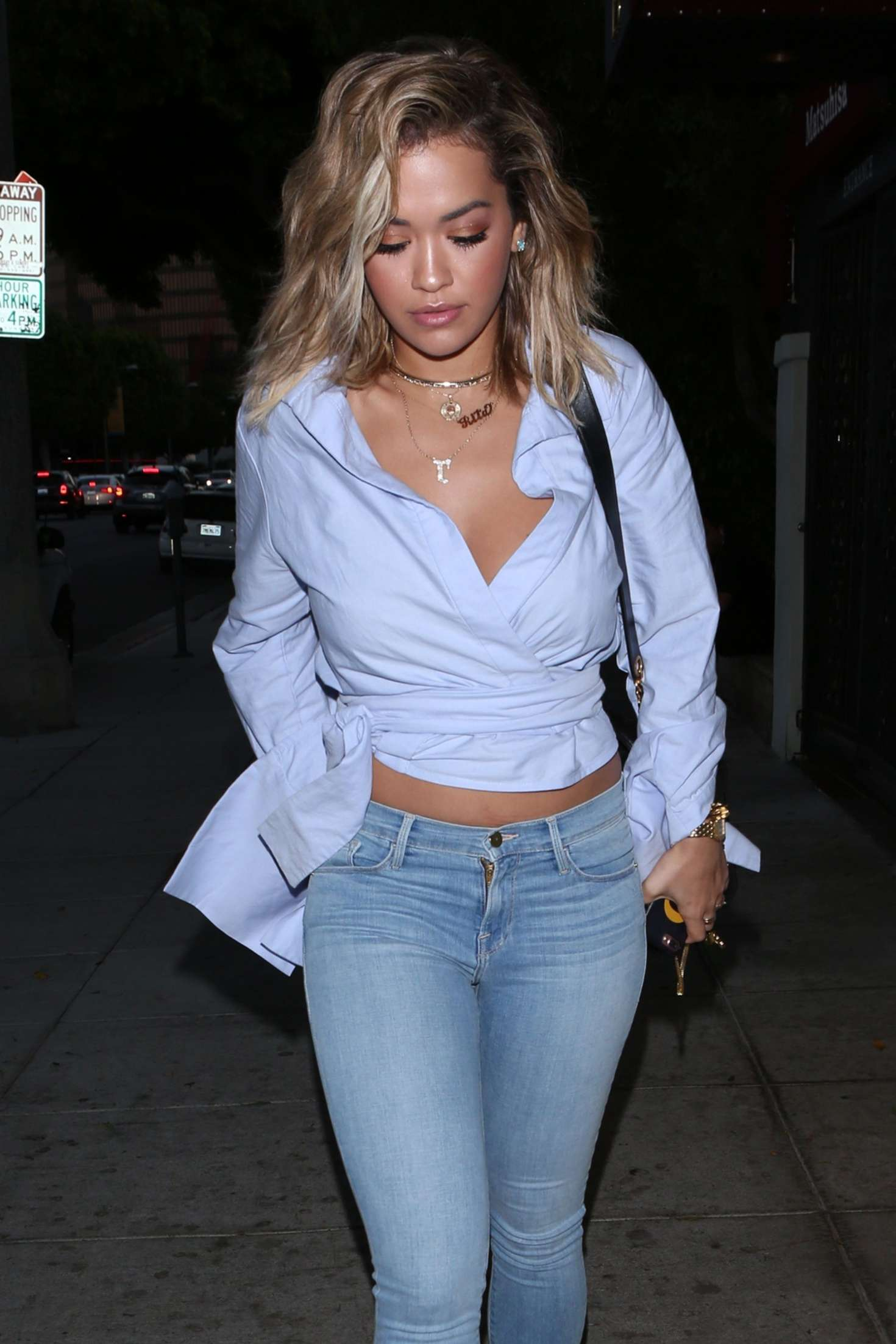 Lakers Vs Cavaliers 2019 >> Rita Ora in Skinny Jeans at Matsuhisa in Beverly Hills