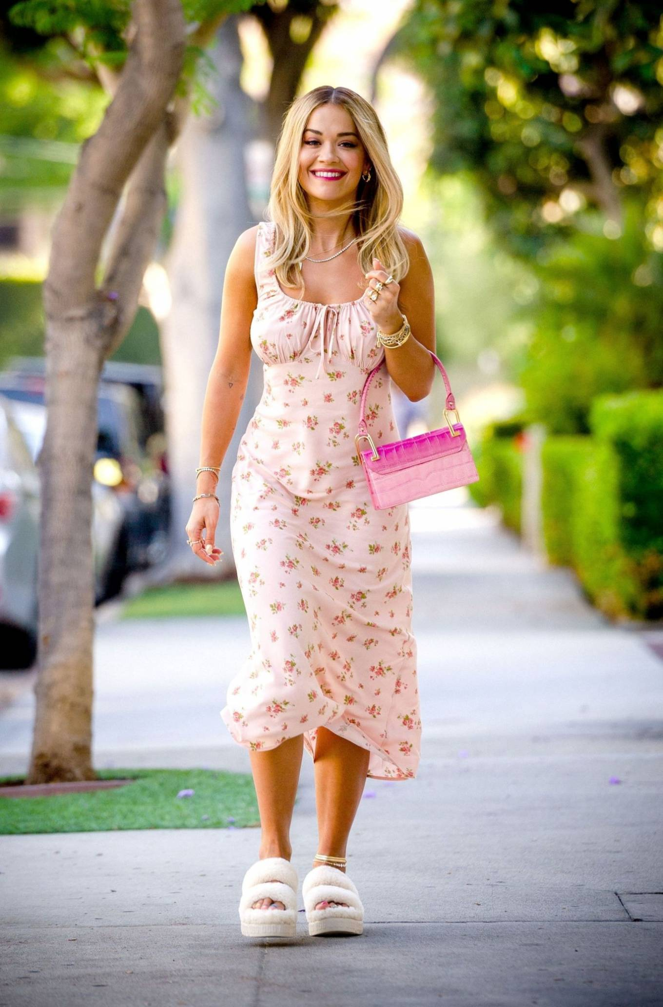 Rita Ora - In summer dress seen out and about in West Hollywood