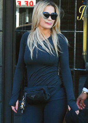 Rita Ora in Tight Leggings - Heads to the gym in NY