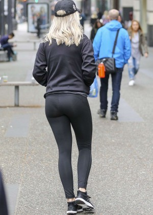 Rita Ora in Tights out in Vancouver