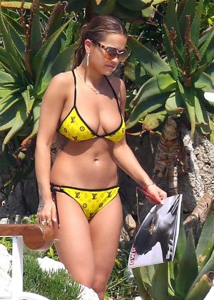 Rita Ora in Yellow Bikini at Hotel du Cap-Eden-Roc in France